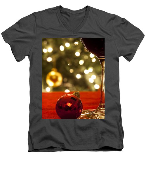 A Drink By The Tree Men's V-Neck T-Shirt by Andrew Soundarajan