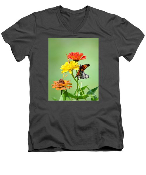 Men's V-Neck T-Shirt featuring the photograph A New Beginning by Lila Fisher-Wenzel