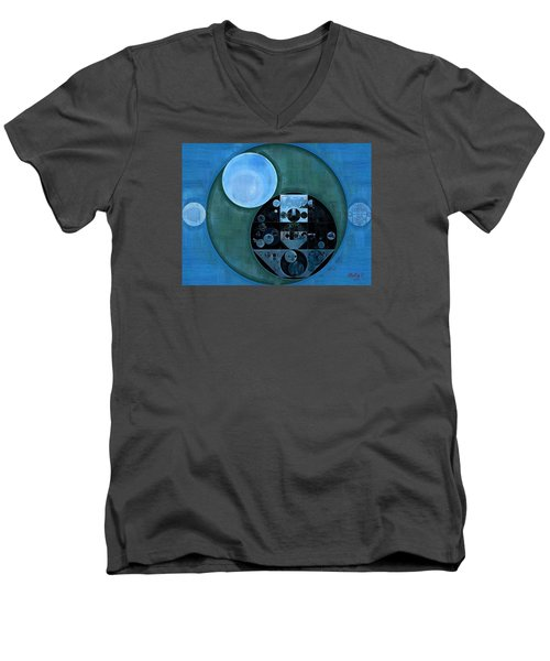 Abstract Painting - Lapis Lazuli Men's V-Neck T-Shirt