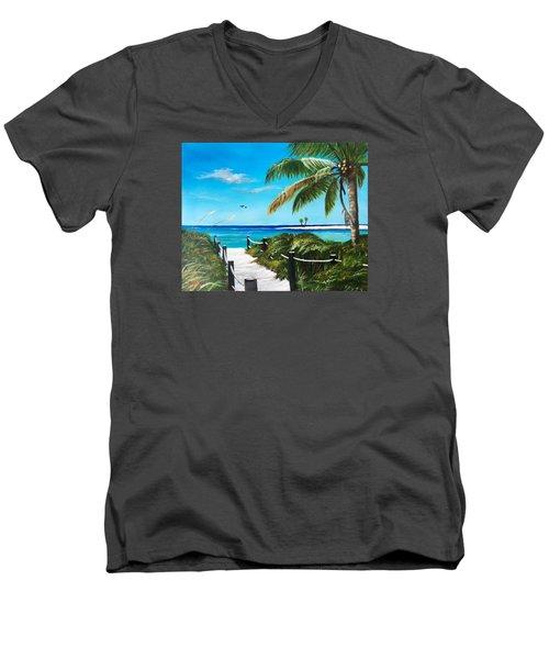 Access To The Beach Men's V-Neck T-Shirt