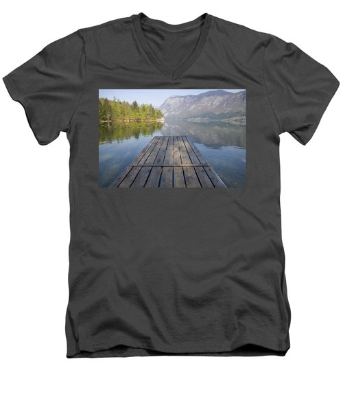 Alpine Clarity Men's V-Neck T-Shirt