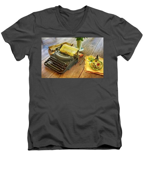 An Author's Tools Men's V-Neck T-Shirt by Lynn Palmer