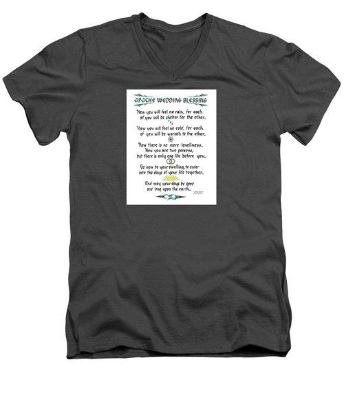 Apache Wedding Blessing Men's V-Neck T-Shirt