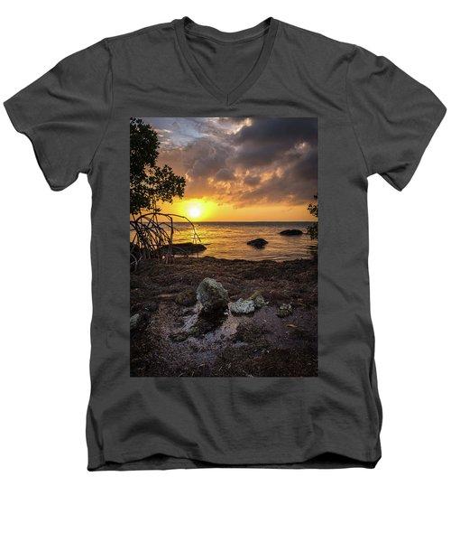 Bahia Honda Sunset Men's V-Neck T-Shirt