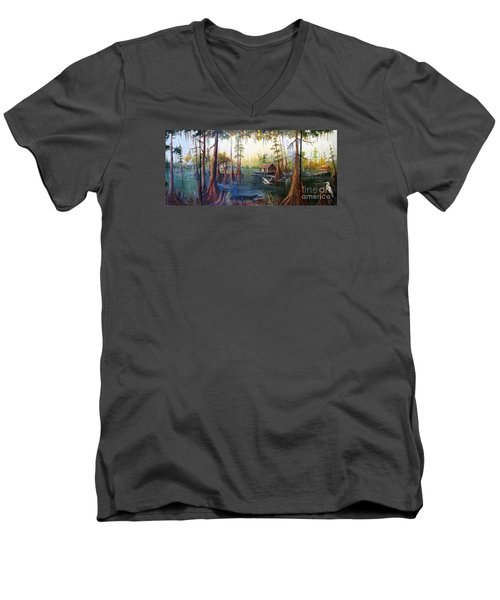 Barbara's Bayou Men's V-Neck T-Shirt