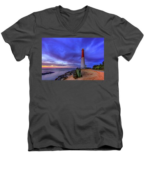 Barnegat Lighthouse Men's V-Neck T-Shirt