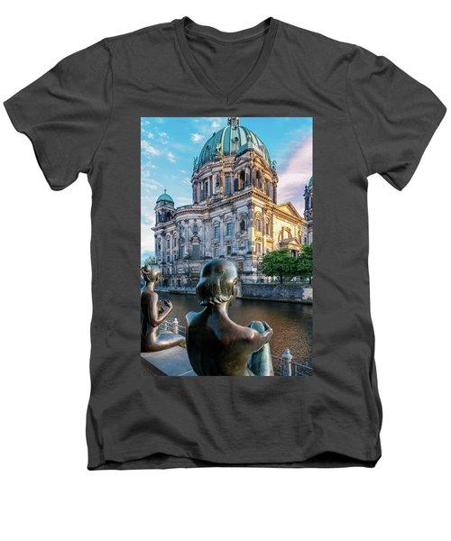 Berlin Men's V-Neck T-Shirt by Stavros Argyropoulos