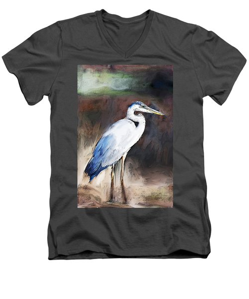 Blue Heron II  Men's V-Neck T-Shirt