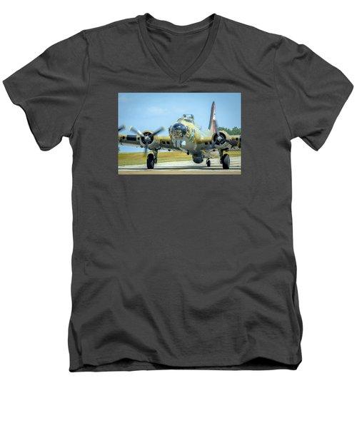 Boeing B-17g Flying Fortress   Men's V-Neck T-Shirt