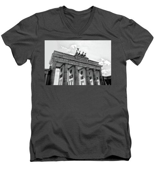 Brandenburg Gate - Berlin Men's V-Neck T-Shirt