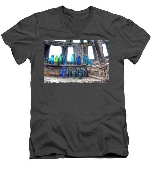 Bromo Seltzer Vintage Glass Bottles  Men's V-Neck T-Shirt