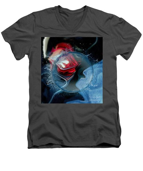 Men's V-Neck T-Shirt featuring the photograph Upheaval by Kathie Chicoine