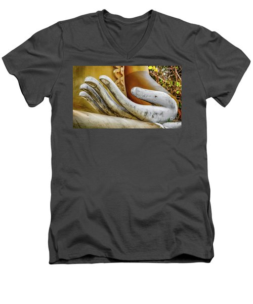 Men's V-Neck T-Shirt featuring the photograph Buddha's Hand by Adrian Evans