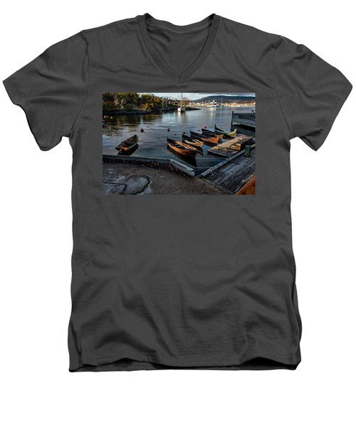 Bygdoy Harbor Men's V-Neck T-Shirt