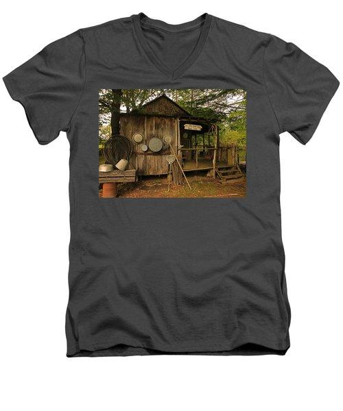 Cajun Cabin Men's V-Neck T-Shirt