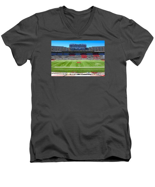 Camp Randall Uw Madison Men's V-Neck T-Shirt by Chris Smith
