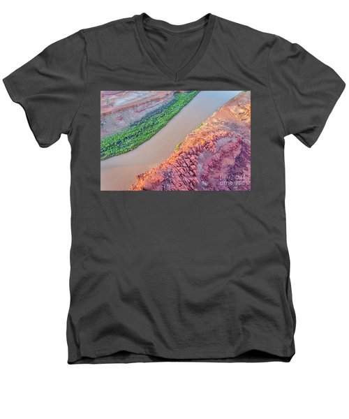 Canyon Of Colorado River - Sunrise Aerial View Men's V-Neck T-Shirt