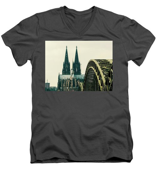 Cathedral Men's V-Neck T-Shirt by Cesar Vieira