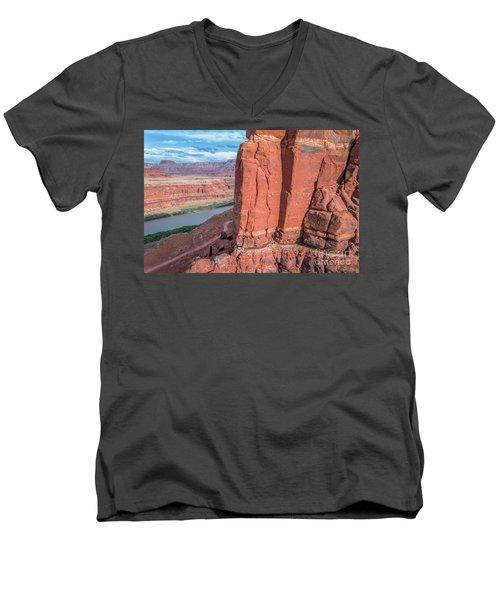 Chicken Corner Trail And Colorado River Men's V-Neck T-Shirt