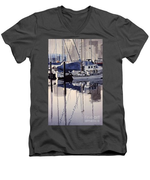 City Mooring Men's V-Neck T-Shirt
