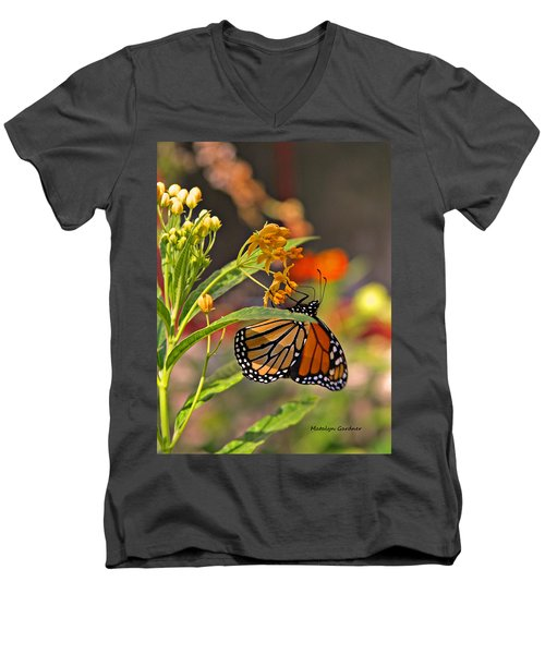 Clinging Butterfly Men's V-Neck T-Shirt