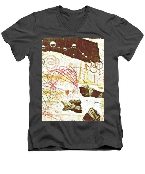 Collage Details Men's V-Neck T-Shirt
