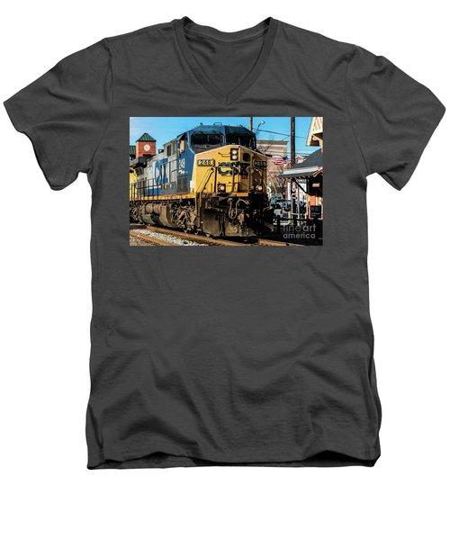 Csx Engine Gaithersburg Maryland Men's V-Neck T-Shirt