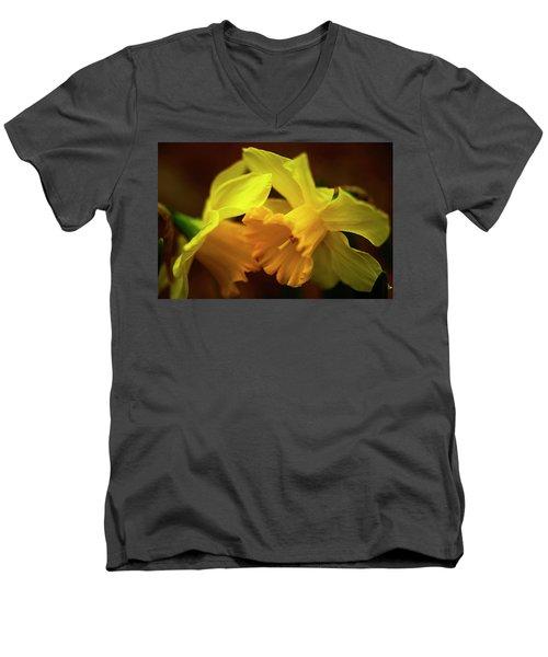 2 Daffodils Men's V-Neck T-Shirt