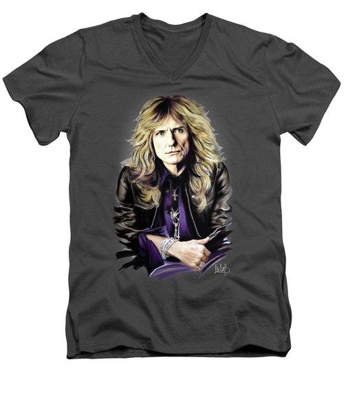 David Coverdale 1 Men's V-Neck T-Shirt