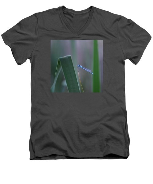 Men's V-Neck T-Shirt featuring the photograph Dragonfly by Nikki McInnes
