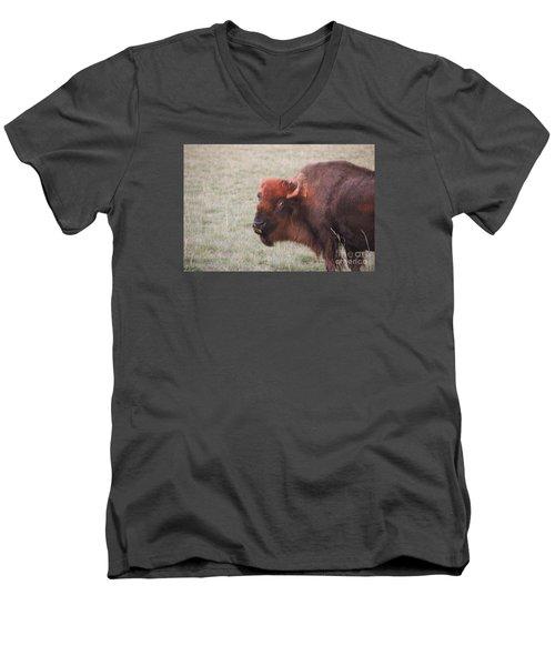 Eye To Eye Men's V-Neck T-Shirt by Yumi Johnson