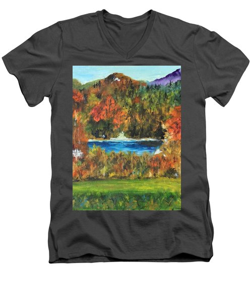 Fall In The Adirondacks Men's V-Neck T-Shirt