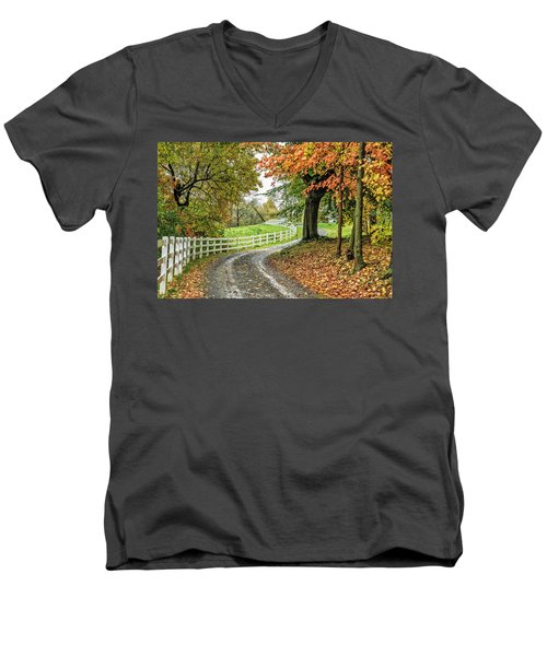 Fence Line Men's V-Neck T-Shirt