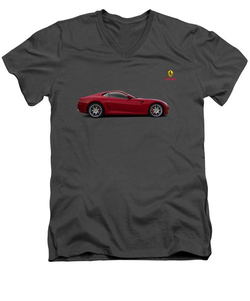 Ferrari 599 Gtb Men's V-Neck T-Shirt by Douglas Pittman