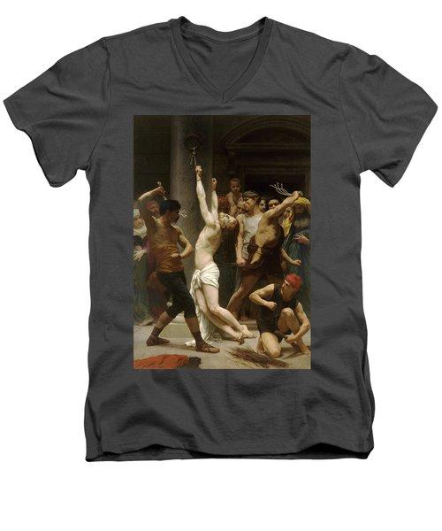 Flagellation Of Christ Men's V-Neck T-Shirt