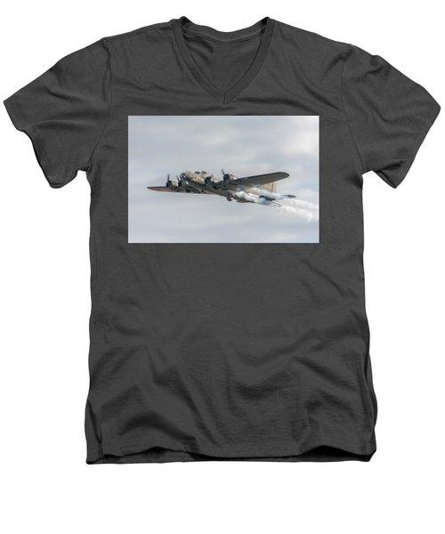 Flying Fortress Sally B Men's V-Neck T-Shirt