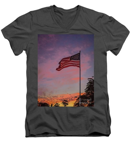 Freedom Men's V-Neck T-Shirt by Robert Bales