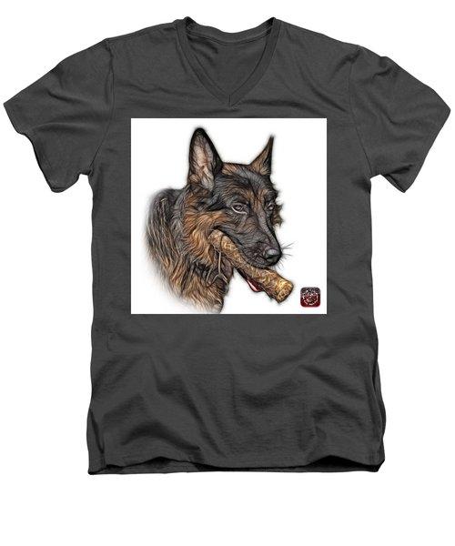 German Shepherd And Toy - 0745 F Men's V-Neck T-Shirt