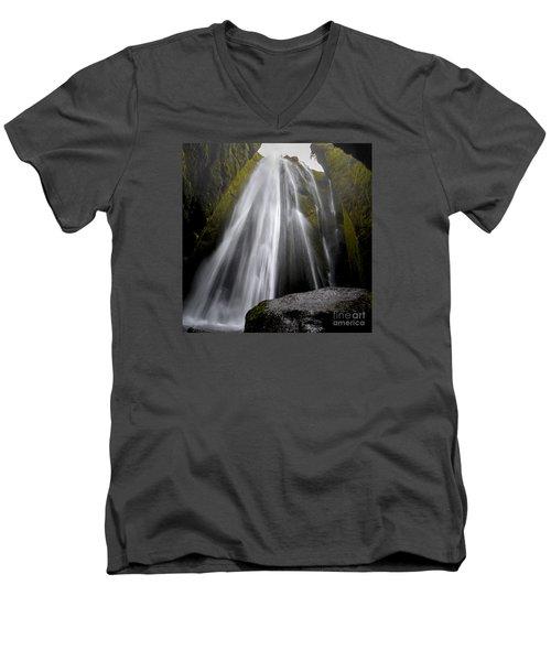 Gljufrabui Men's V-Neck T-Shirt by Gunnar Orn Arnason