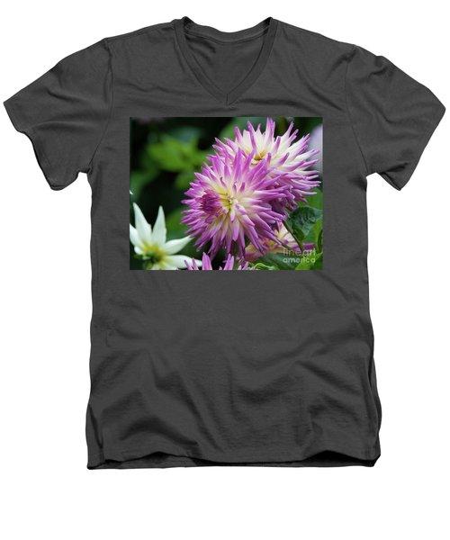Golden Gate Park Dahlia Men's V-Neck T-Shirt