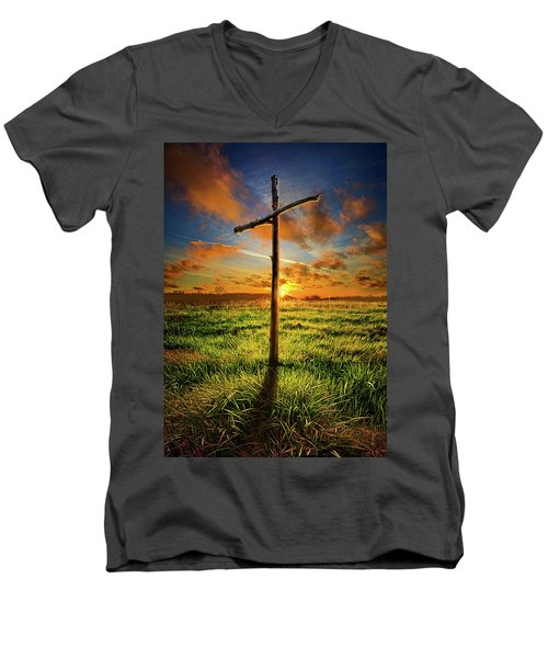 Men's V-Neck T-Shirt featuring the photograph Good Friday by Phil Koch