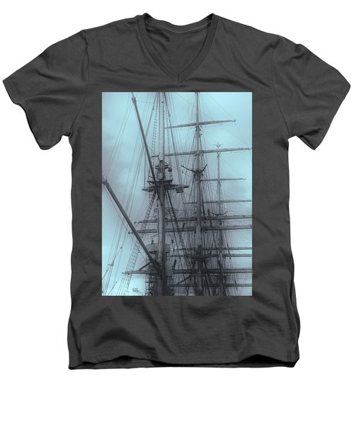 Men's V-Neck T-Shirt featuring the photograph Gorch Fock ... by Juergen Weiss