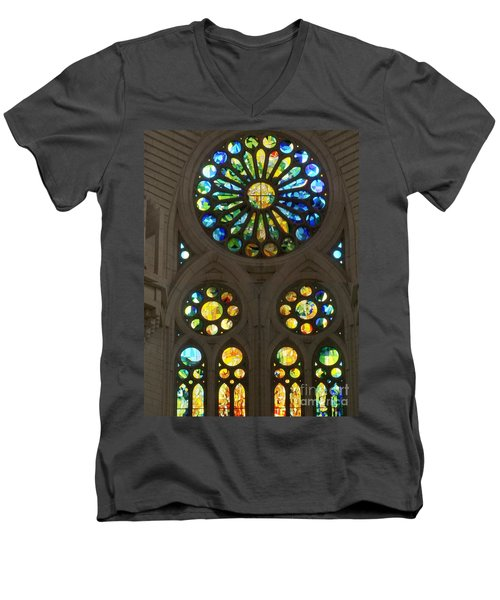 Graphic Art From Photo Library Of Photographic Collection Of Christian Churches Temples Of Place Of  Men's V-Neck T-Shirt