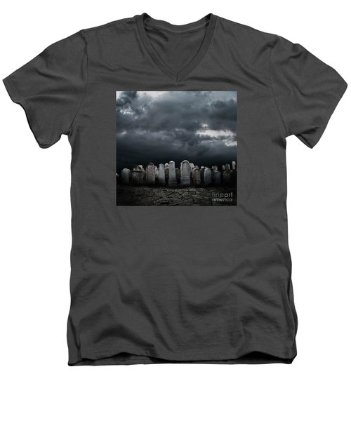 Graveyard Men's V-Neck T-Shirt