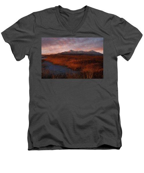 Great Salt Lake Men's V-Neck T-Shirt by Utah Images