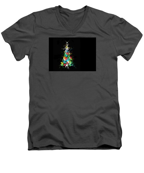 Men's V-Neck T-Shirt featuring the photograph Happy Holidays by Ludwig Keck