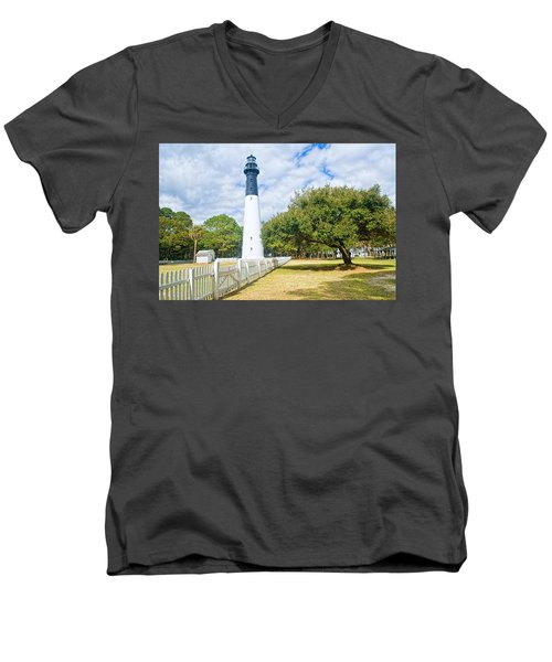 Hunting Island Lighthouse Men's V-Neck T-Shirt