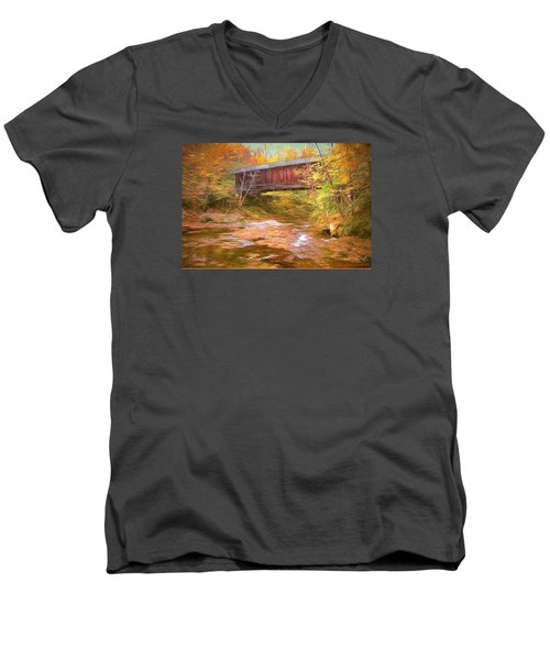 Hutchins Bridge Men's V-Neck T-Shirt