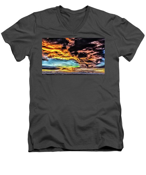 Men's V-Neck T-Shirt featuring the photograph I Am That I Am by Michael Rogers