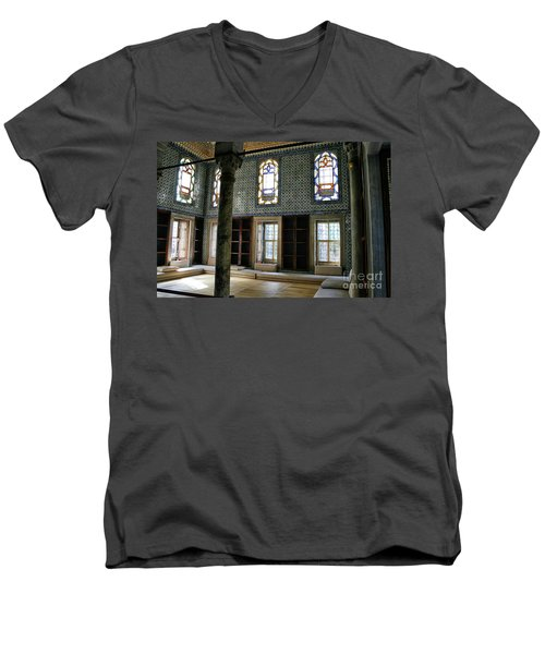Men's V-Neck T-Shirt featuring the photograph Inside The Harem Of The Topkapi Palace by Patricia Hofmeester